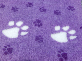 Violett mit grossen weissen und kleinen dunkelviolettenPfoten