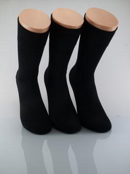 3 Paar Herrensocken Comfort schwarz