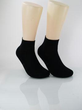 2 Paar Sneaker Socken mit Frotteesohle schwarz