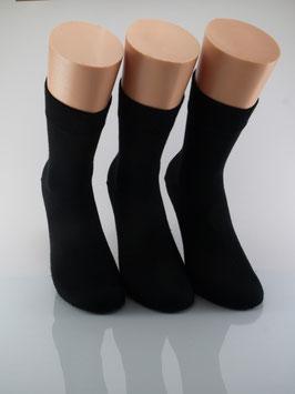3 Paar Damensocken Comfort schwarz