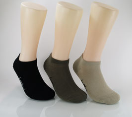 3 Paar Bambus Sneaker Socken Oliv