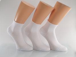 3 Paar Damen Rollrand Kurzschaftsocken Weiß
