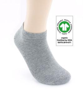 1 Paar Bio-Baumwolle Sneaker Socken grau
