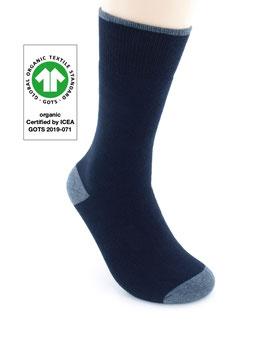1 Paar Bio-Baumwolle Arbeitssocken dunkelblau