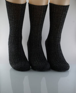 3 Paar Wollsocken anthrazit meliert