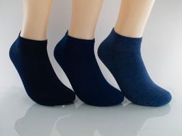 3 Paar Herren Sneaker Socken Blautöne