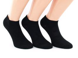 3 Paar Bambus Sneaker Socken Schwarz