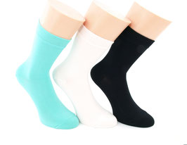 3 Paar Damensocken Comfort mint