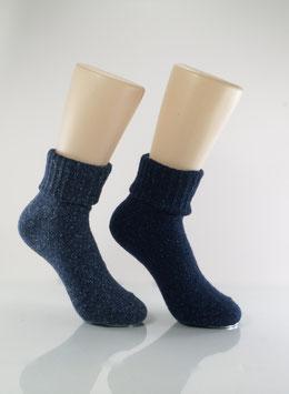 2 Paar Wolle & Seide Blautöne