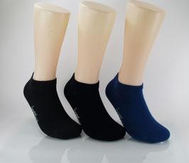 3 Paar Bambus Sneaker Socken Blau