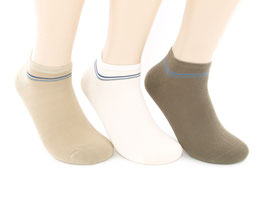 3 Paar Herren Sneaker Socken natur Design