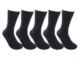 5 Paar 100 % Baumwolle schwarz