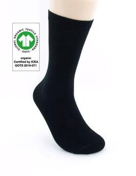 1 Paar Bio-Baumwolle Socken schwarz
