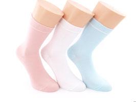3 Paar Damensocken Comfort hellblau/rosa