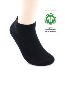 1 Paar Bio-Baumwolle Sneaker Socken schwarz
