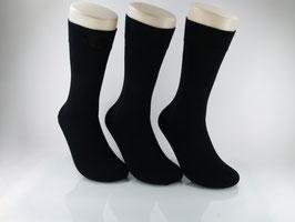 3 Paar Businesssocken veredelte Baumwolle schwarz