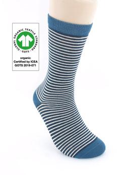 1 Paar Bio-Baumwolle Socken Ringel jeans