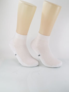 2 Paar Sneaker Socken mit Frotteesohle weiß