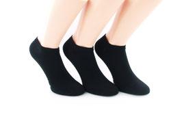 3 Paar Sneaker Socken für kleine Füße schwarz