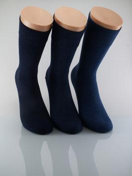 3 Paar Herrensocken Comfort Blautöne