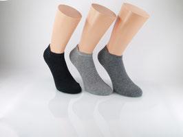 3 Paar Sneaker Socken Grautöne