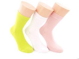 3 Paar Damensocken Comfort lindgrün/rosa