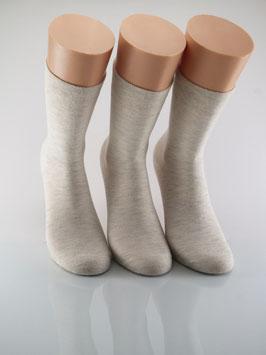 3 Paar Damensocken Comfort Natur meliert