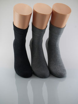 3 Paar Damensocken Comfort Grautöne