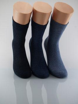 3 Paar Damensocken Comfort Blautöne