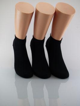 3 Paar Damen Kurzschaftsocken schwarz