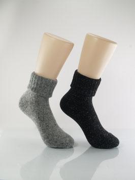 2 Paar Wolle & Seide Grautöne