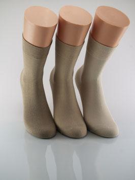 3 Paar Damensocken Comfort Beigetöne