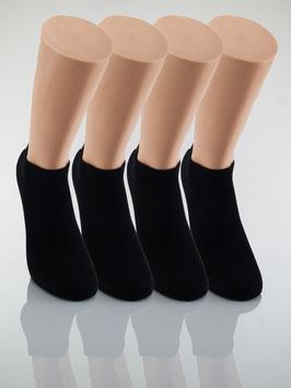 4 Paar Sneaker Socken schwarz