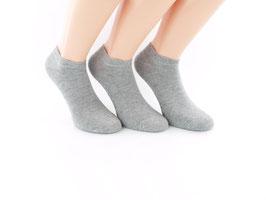 3 Paar Sneaker Socken für kleine Füße grau