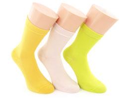 3 Paar Damensocken Comfort gelb