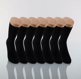 7 Paar 100 % Baumwolle schwarz