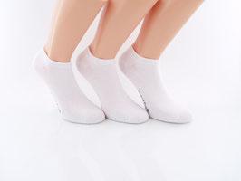 3 Paar Sneaker Socken für kleine Füße weiß
