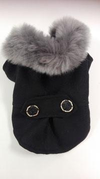 Mantel Moskou zwart/ donkergrijs