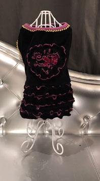 Kleedje zwart en paars