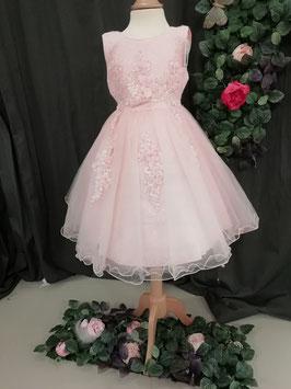 Roze kleed met bloemen