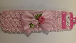 Haarband wit / roze