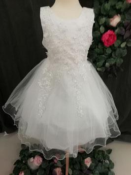 Wit kleed met bloemen