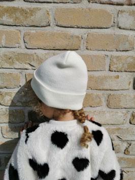 Kindermuts 5-12 jaar wit/roze/marineblauw of grijs