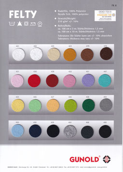 FELTY in 24 Farben von Gunold 0,2lfdm