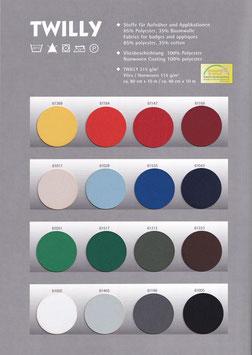 TWILLY in 16 Farben von Gunold - 2 Breiten