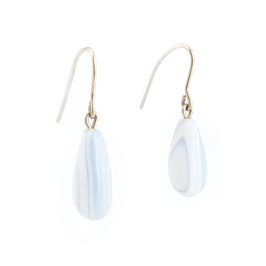 Golden Waterdrop Porcelain Dangle Earring