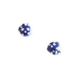 Cobalt Sea Stone Porcelain Stud Earring / Natural