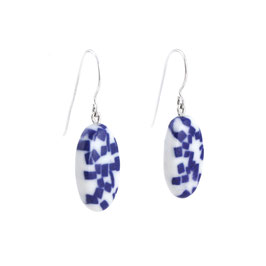 White Sea Stone Porcelain Dangle Earring