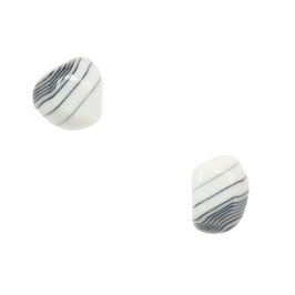 Black Line Porcelain Stud Earring