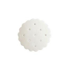 Pure White Porcelain Earring Holder
